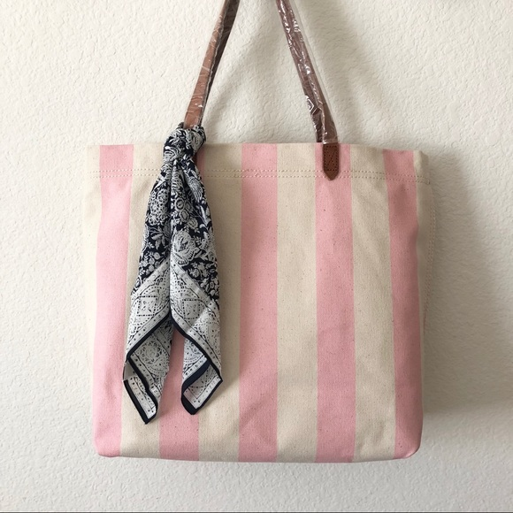 37bfd7efbd78e Madewell Canvas Transport Tote in Stripe